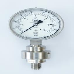 Welded Chemical Seal with Gauge Model 14W
