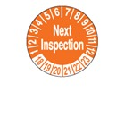 Next Inspection Due Month And Year Labels