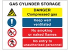Gas Cylinder Storage Safety Symbol & Test Sign