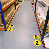 Warehouse Floor Identification Markers