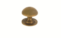 BURNISHED BRASS DOME KNOB