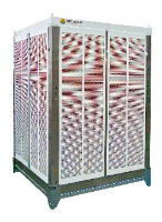 AD-70-H/100 07 63000m3/hr evaporative cooler with with painted louvers