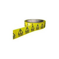 DANGER ASBESTOS Rolls of Asbestos Hazard Warning Labels