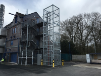 4 Stop External Hot Dipped Galvanised Goods Lift