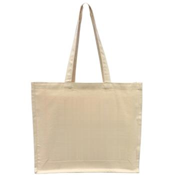 Natural Cotton Canvas Bag with Gusset