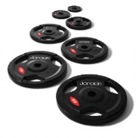 JORDAN OLYMPIC BLACK RUBBER DISC'S WITH HAND GRIPS