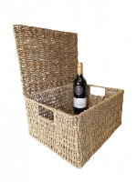 Seagrass HAMPER Basket with Lid - 36x28x19cm EX-LARGE