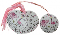 Pack 50 Gift Tags with Ribbon Ties - LITTLE GIRL