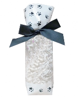 CANDY BAGS (pk 10) with Block Bottom and Twist Ties - PAW PRINTS (small)