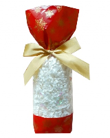 CANDY BAGS (pk 10) with Block Bottom and Twist Ties - SNOWFLAKES (small)