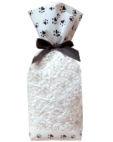 CANDY BAGS (pk 10) with Block Bottom and Twist Ties - PAW PRINTS (large)