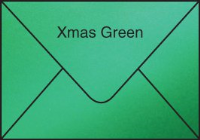 Envelopes for Gift Cards - PEARLESCENT EMERALD GREEN (pack of 100)