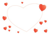 Envelopes for Gift Cards - PEARLESCENT HEARTS (pack of 100)
