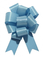 SATIN Pull Bows 22mm - (pk 5) BABY BLUE