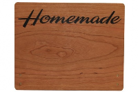 Large Cherry Wood Point of Sale Sign 250mm x 200mm - HOMEMADE