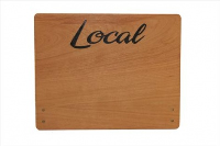 Large Cherry Wood Point of Sale Sign 250mm x 200mm - LOCAL