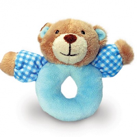 BABYS FIRST RATTLE by Keel Toys - BLUE (Discontinued)