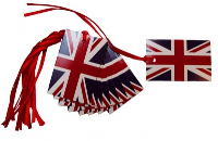 Pack 10 Gift Tags with Ribbon Ties - UNION JACK