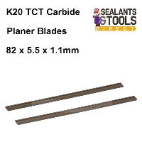 K20 TCT Planer Blades 82mm x 5.5mm x 1.1mm 125629 Carbide Twin pack
