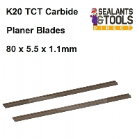 K20 TCT Planer Blades 80mm x 5.5mm x 1.1mm 273237 Carbide Twin pack