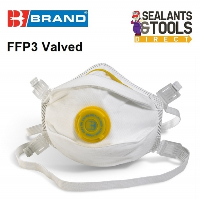 B Brand P3 Valved Safety Face Mask Toxic Level Dust and Fume FFP3