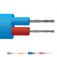 Type T Pvc Insulated Flat Pair Thermocouple Cable Wire Ansi