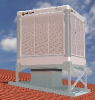 AD-12-V-100-015 INOX 12000m3/hr evaporative cooler with with stainless steel louvers