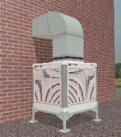 AD-15-VS-100-022 15000m3/hr evaporative cooler with with painted louvers