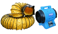 Minivayor VAF-200 (230V) & duct 1350 m3/hr ventilation fan 230v c/w 7.5m 203mm Ø flex duct