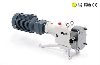 ZL Rotary Lobe Pump with Close Coupled Motor Gearbox Flange