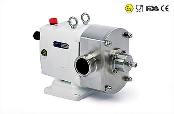 ZL Rotary Lobe Pump with vertical port