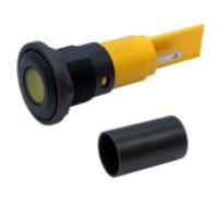 M16 LED Panel Mount Indicators with flat lens - with protection tube