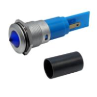M16 LED Panel Mount Indicators with conical lens - with protection tube
