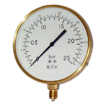 Gaseous Media Brass Pressure Gauges