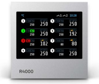 R4000 Temperature Controller with 4 or 8 zones Heating/Cooling