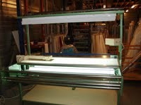 Fabric Inspection Machinery with illuminated inspection deck