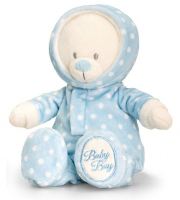 BABY BEAR in ROMPER SUIT by Keel Toys - BLUE