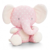 Baby ELEPHANT by Keel Toys - PINK/WHITE SPOTS