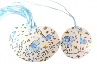 Pack 10 Gift Tags with Ribbon Ties - LITTLE BOY