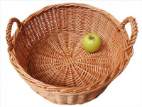 Superior ROUND DISPLAY Basket with HANDLES - approx 36x15cm