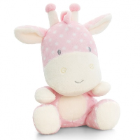 Baby GIRAFFE by Keel Toys - PINK/WHITE SPOTS