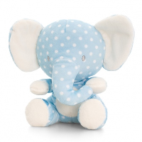 Baby ELEPHANT by Keel Toys - BLUE/WHITE SPOTS