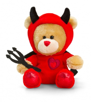 Valentine's Pipp the Bear 14cm by Keel Toys - DEVIL