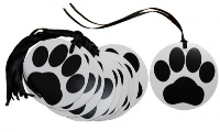 Pack 10 Gift Tags with Ribbon Ties - PAW PRINTS