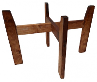 Wooden Stand for Shopping Baskets - DARK STAIN (ex-large)
