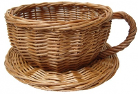 Wicker Cup and Saucer - 20cmx10cm - SMALL