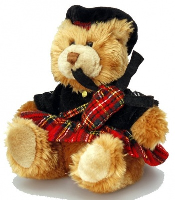 SCOTTISH PIPER BEAR with BAGPIPES by Keel Toys