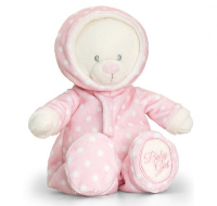 BABY BEAR in ROMPER SUIT by Keel Toys - PINK