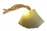 Pack 10 Gift Tags with Ties - GOLD