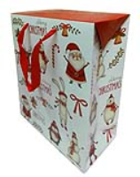 FLAT TOP GIFT BAGS (pack of 10) - large CHRISTMAS CHARACTERS